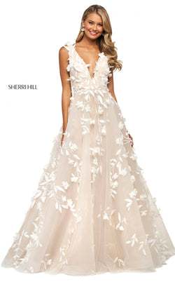 Sherri Hill 53770 Dress Ivory-Nude