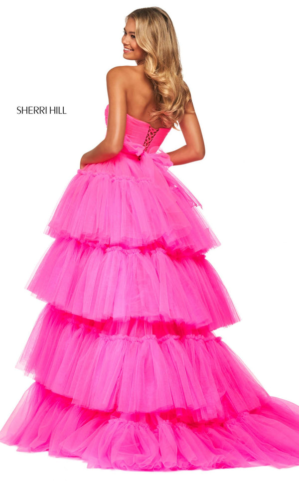 Sherri Hill 53776 Dress Bright-Pink