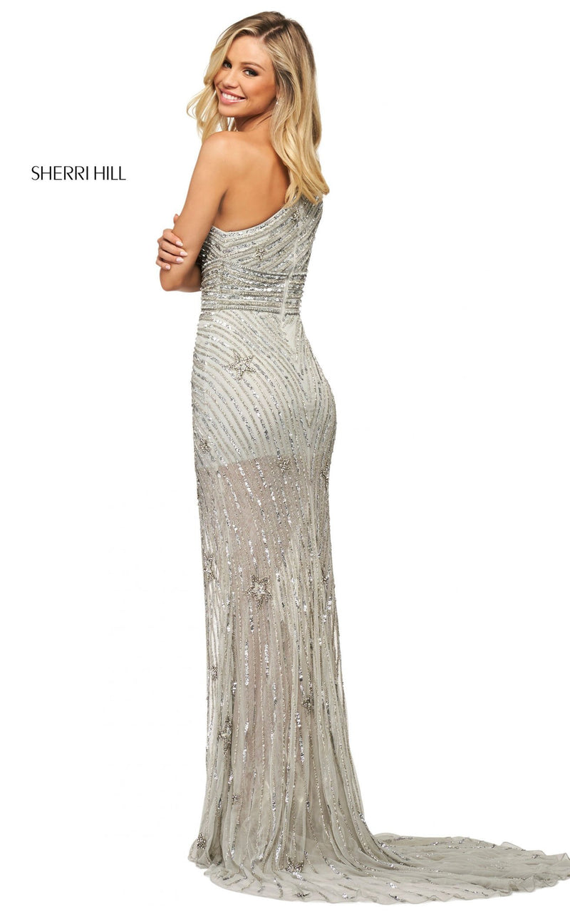 Sherri Hill 53784 Dress Silver