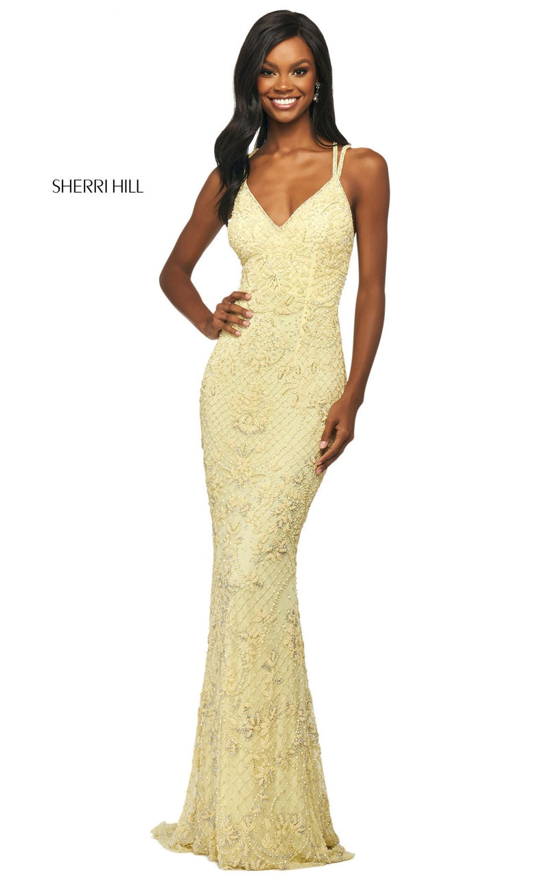 Sherri Hill 53788 Dress Yellow