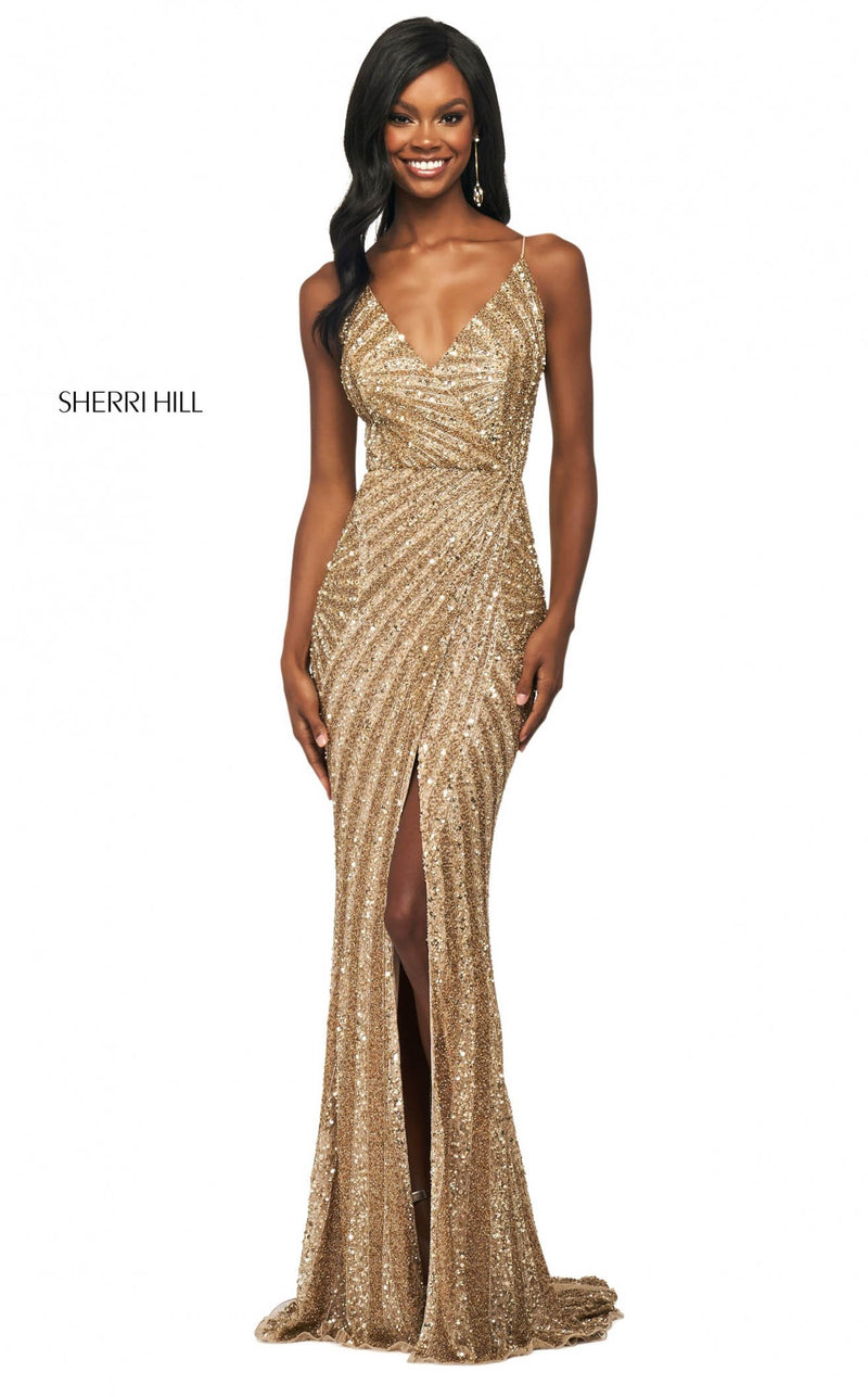 Sherri Hill 53798 Dress Gold