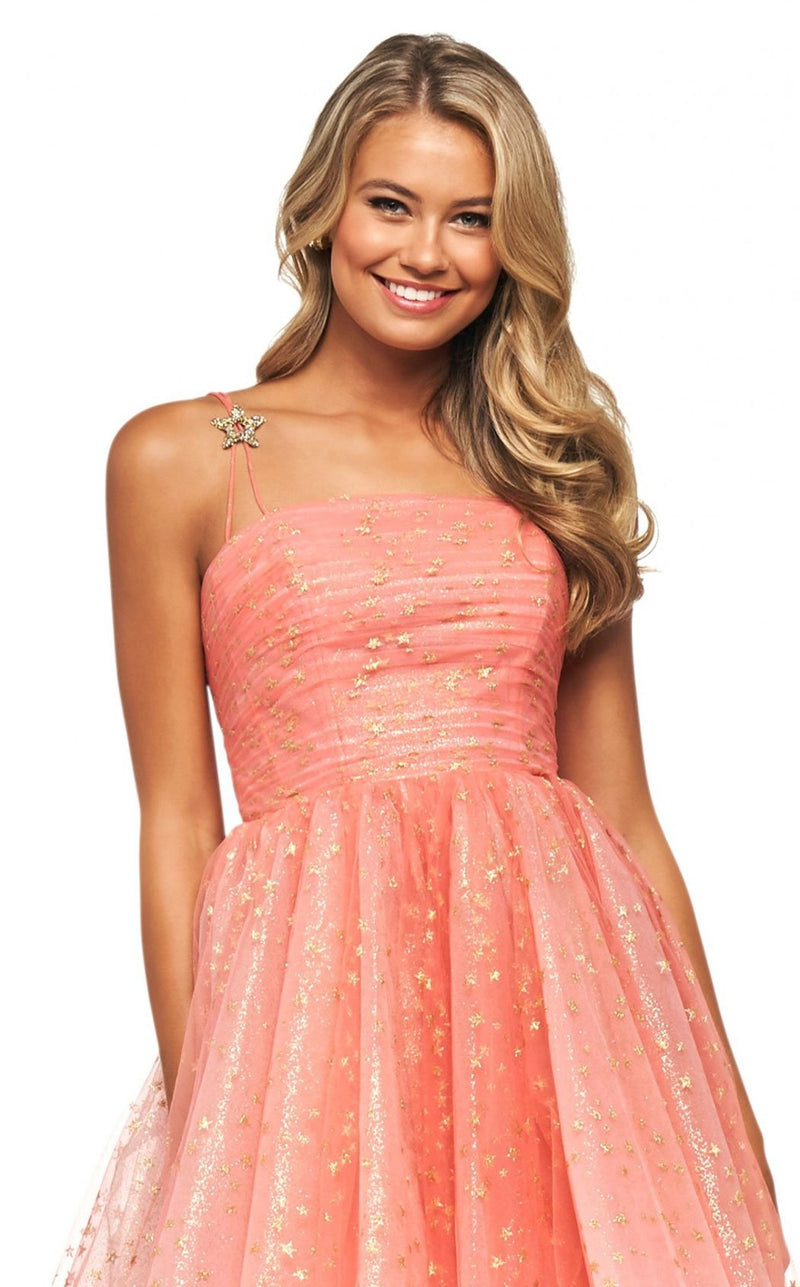Sherri Hill 53825 Dress Coral-Gold