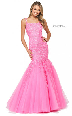 Sherri Hill 53826 Dress Bright-Pink