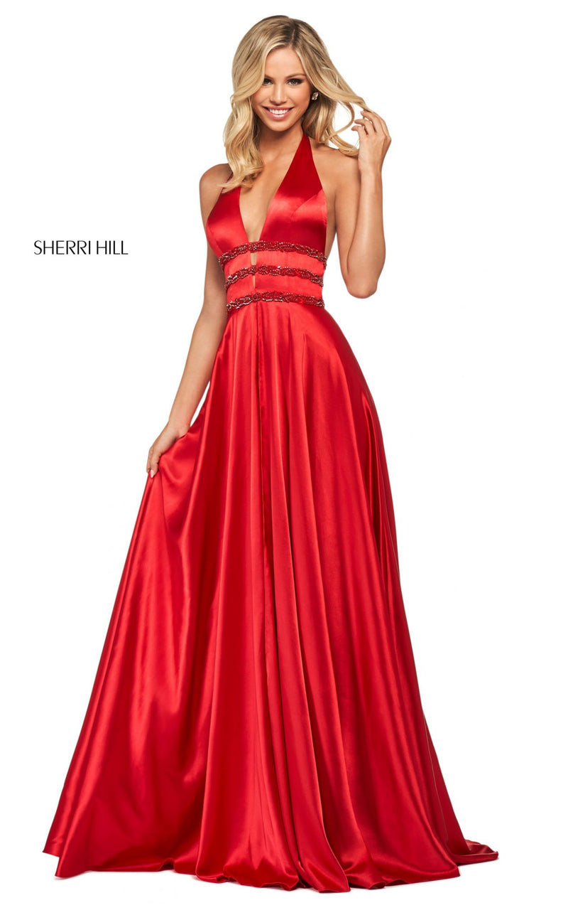 Sherri Hill 53833 Dress Red