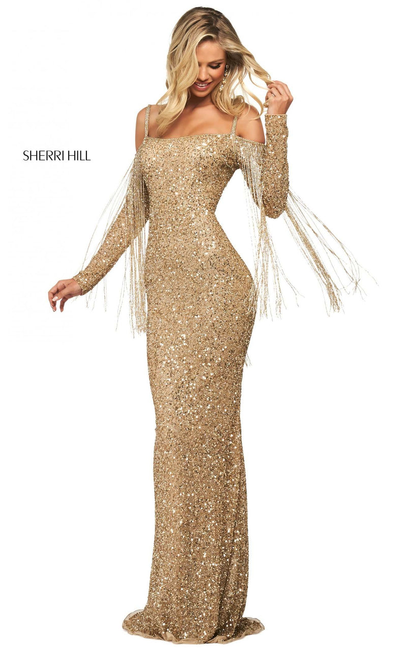 Sherri Hill 53876 Dress Gold