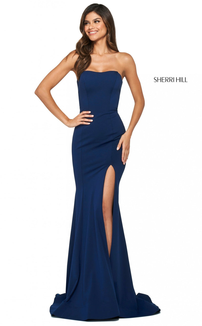 Sherri Hill 53877 Dress Navy