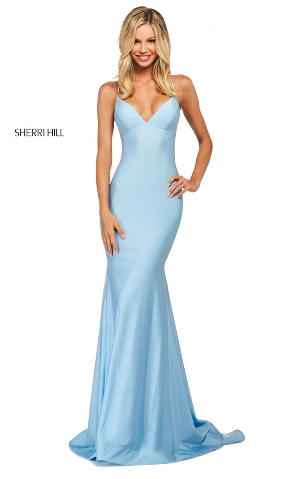Sherri Hill 53879 Dress Light-Blue