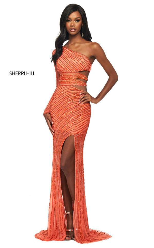 Sherri Hill 53884 Dress Orange