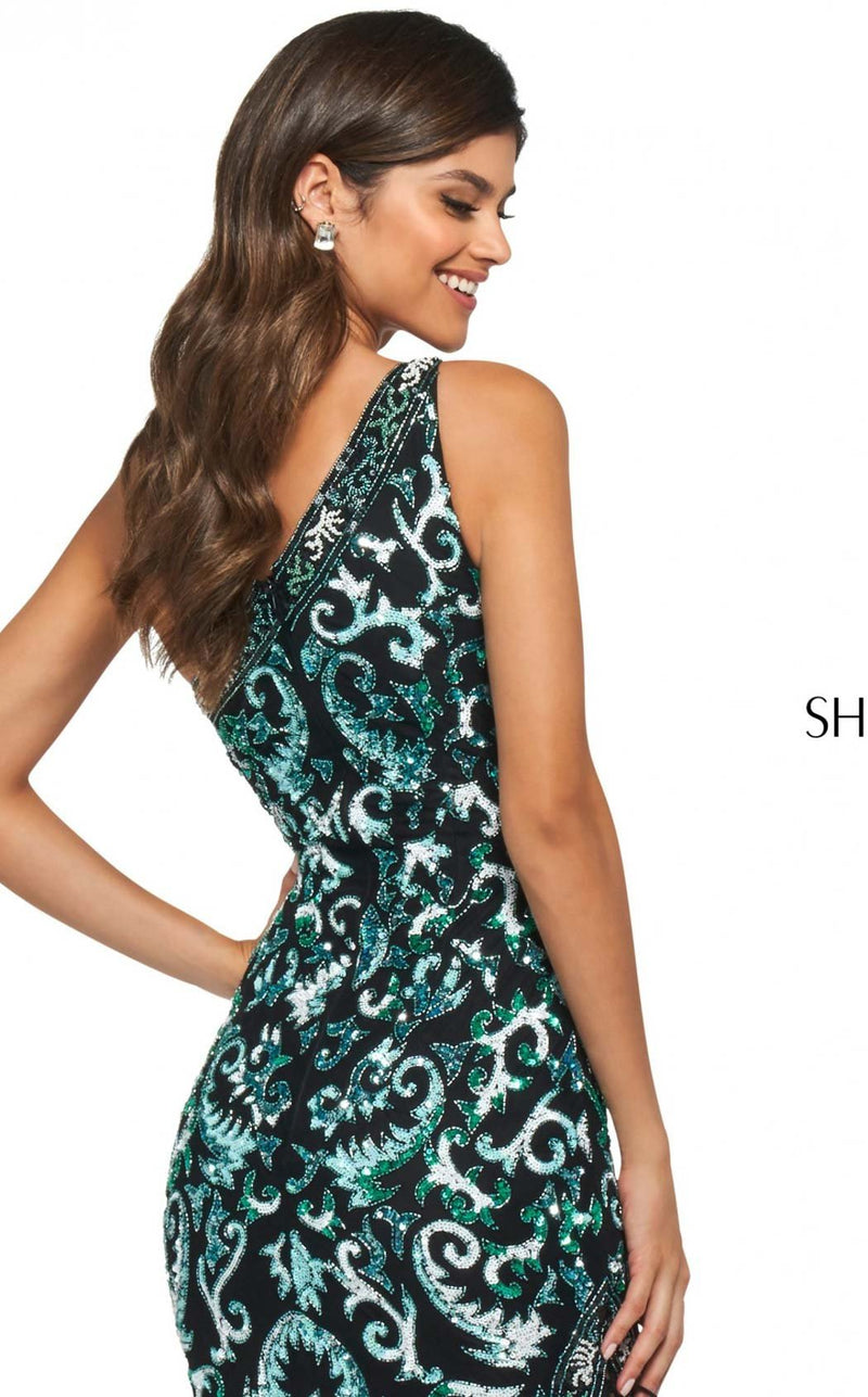 Sherri Hill 53898 Dress Black-Blue-Aqua