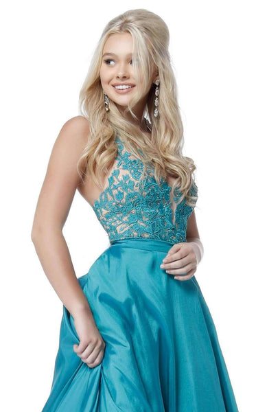 f22c8c7afa6 Halter Floral Gown by Sherri Hill  model 51643