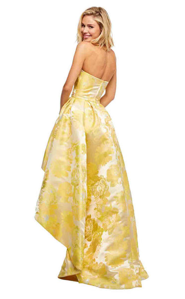 Sherri Hill 52416 Yellow-Print