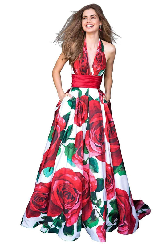 Sherri Hill 52084 Rose-Print