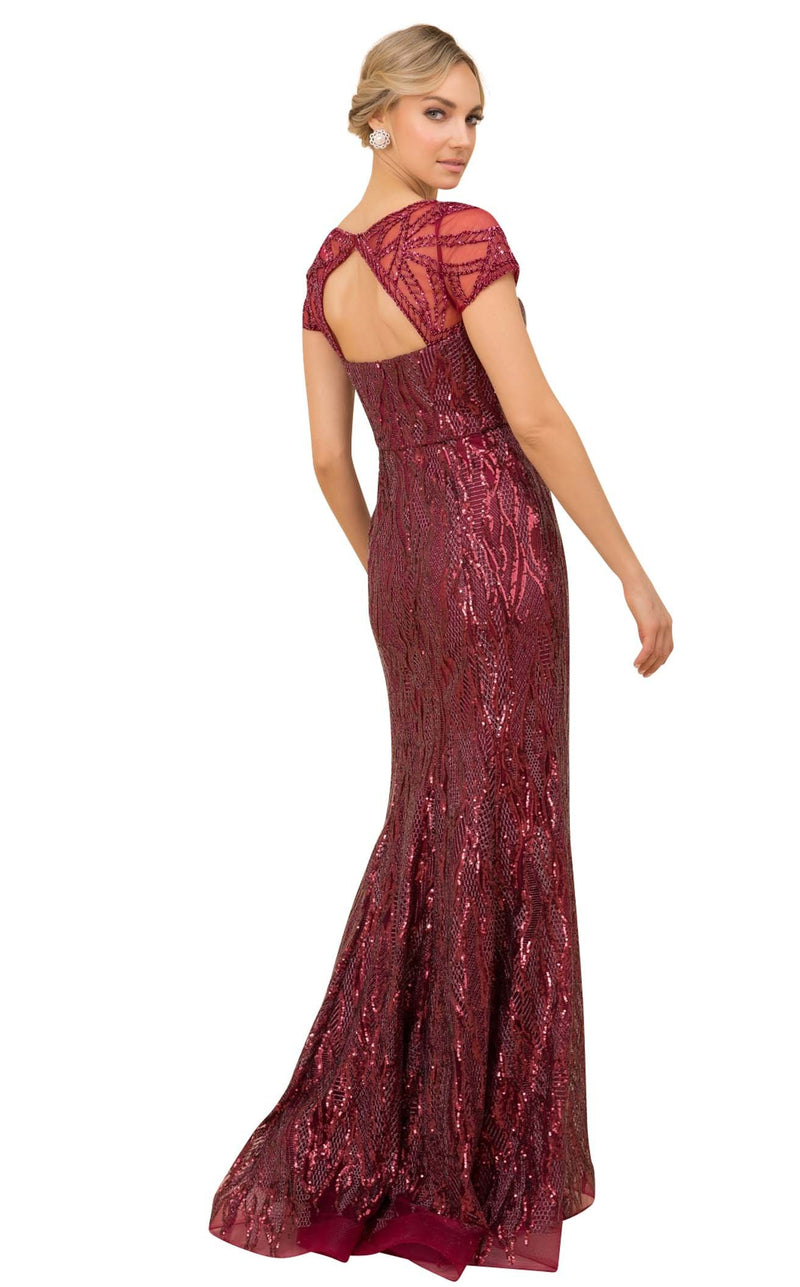 Nox Anabel T419 Dress Burgundy