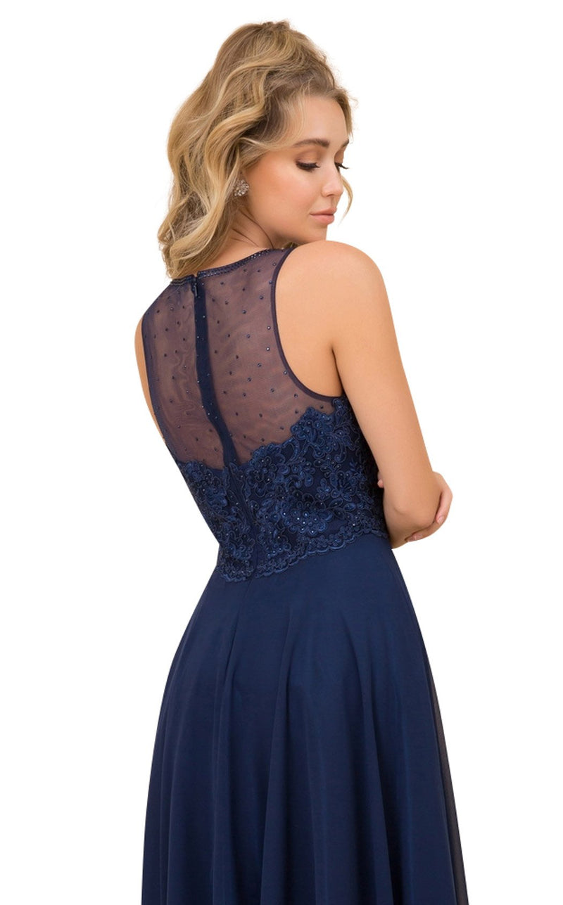 Nox Anabel Y009 Dress Navy-Blue