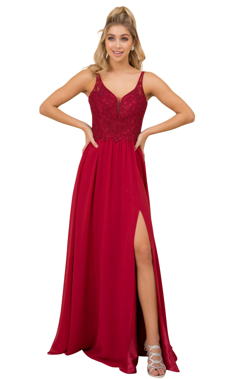 Nox Anabel Y299 Dress Burgundy