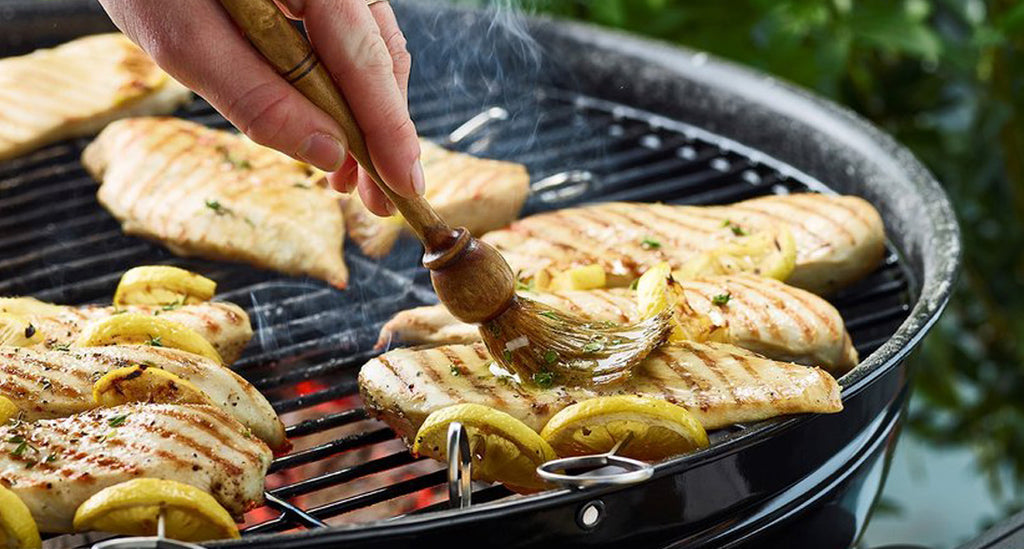 Barbecued Chicken Breasts with Honey Mustard