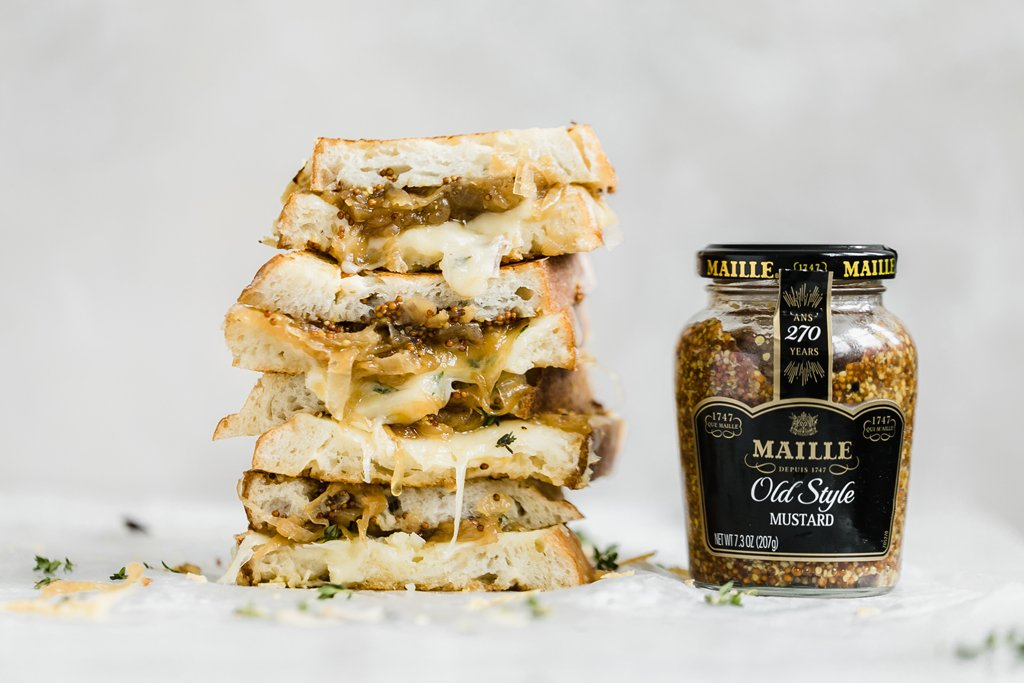 Grilled Cheese Recipe with Caramelised Onions