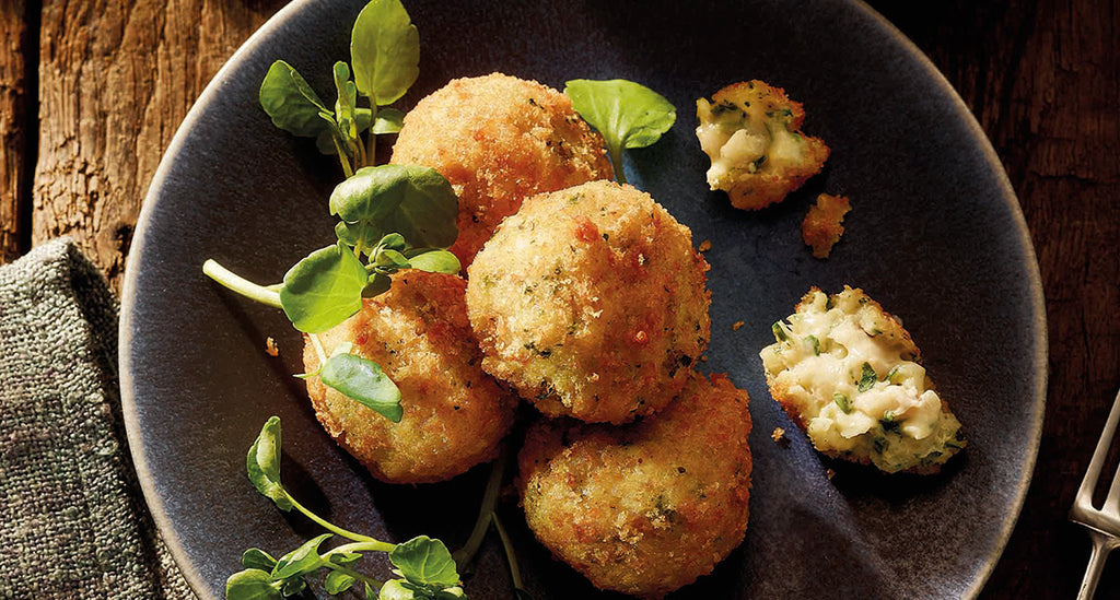 Haddock and Dijon Mustard Croquettes with a Spring Onion Mayonnaise
