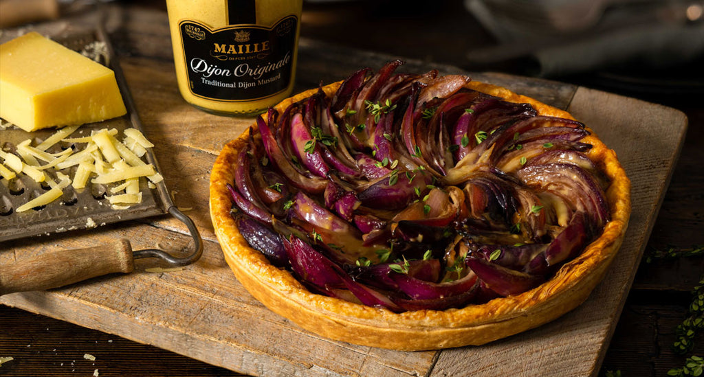 Maille Vegetarian Red Onion Tarte Tatin Recipe