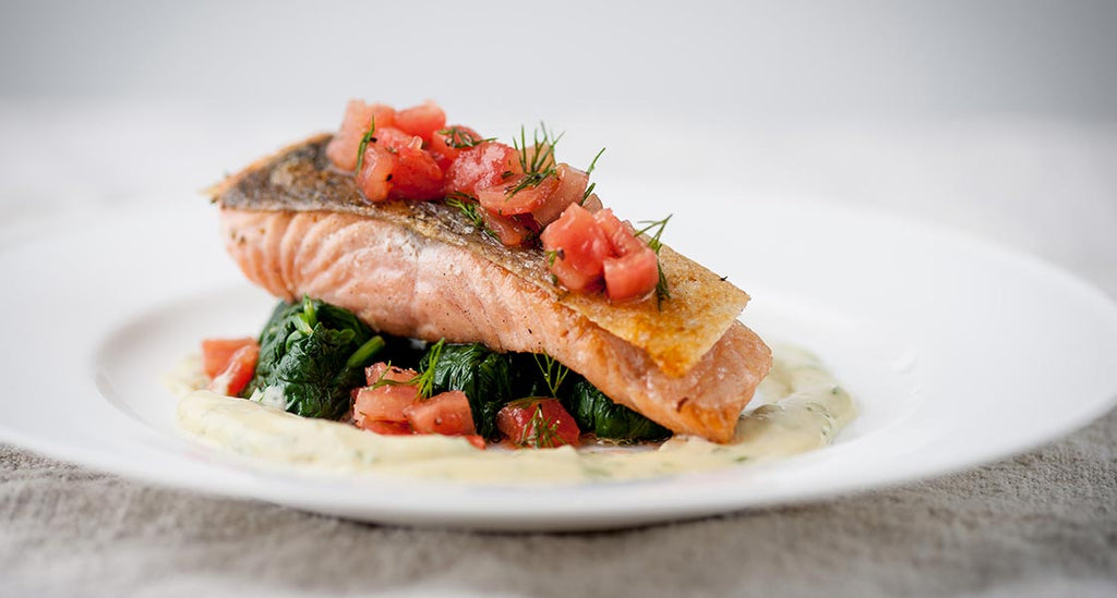 Pan-Roasted Wild Salmon & Dill-Mustard