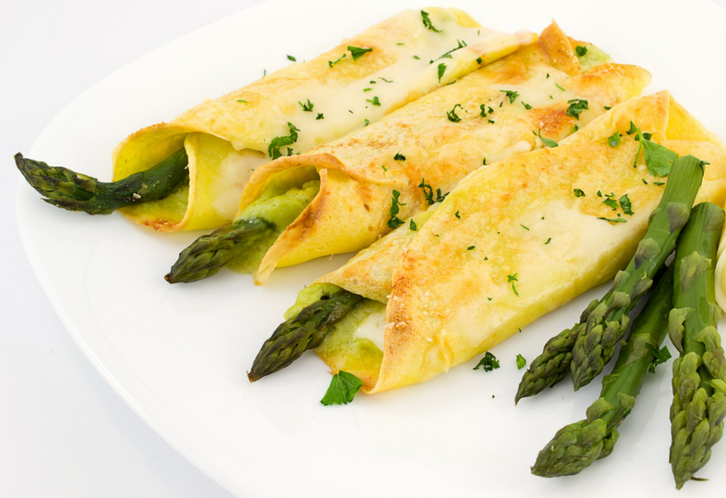 Asparagus Crepes with Maille Port Balsamic Mustard