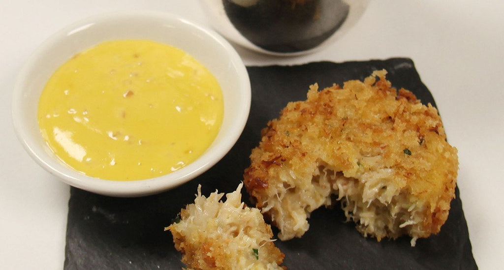 Crab Cakes with Sweet Mustard Sauce