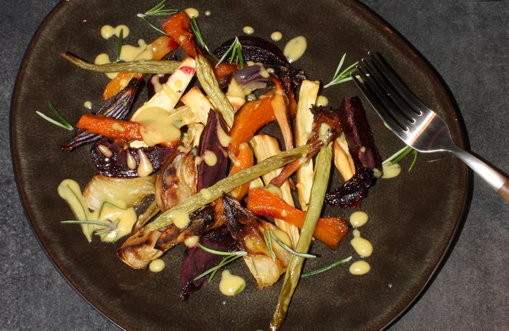 Roasted Vegetables With Maille Mustard Sauce