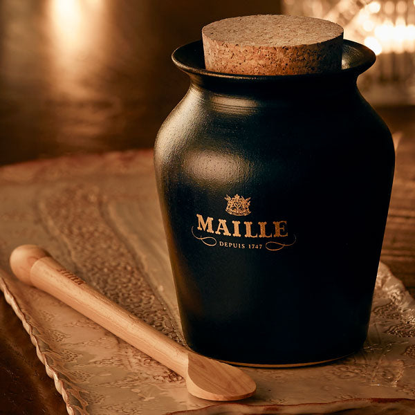 Maille black truffle and Chablis white wine mustard