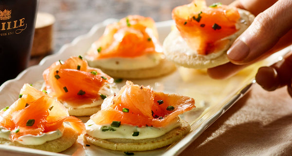 maille smoked salmon blinis