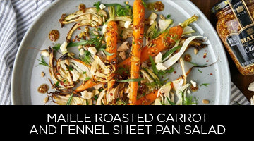 Maille, recipe, Roasted Carrot and Fennel Sheet Pan-salad