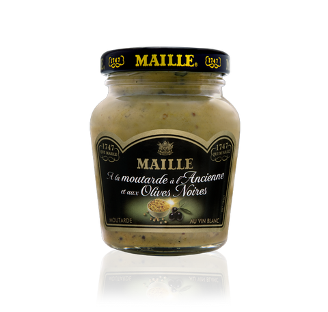 Maille Black Olive and White Wine Mustard, 110g