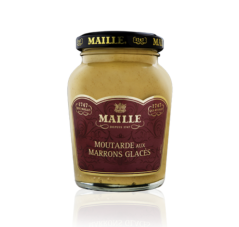 Maille Candied chestnuts and White Wine Dijon Mustard, 215g