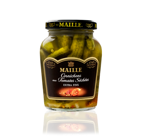 Maille Cornichons with Sundried Tomato and White Wine Vinegar, 210g