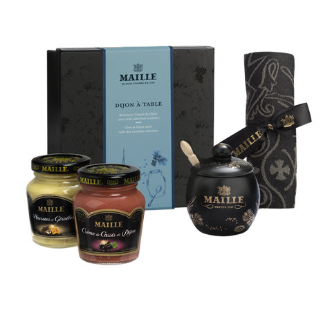 Maille Exclusive Dijon Mustard Table Gift Box Set