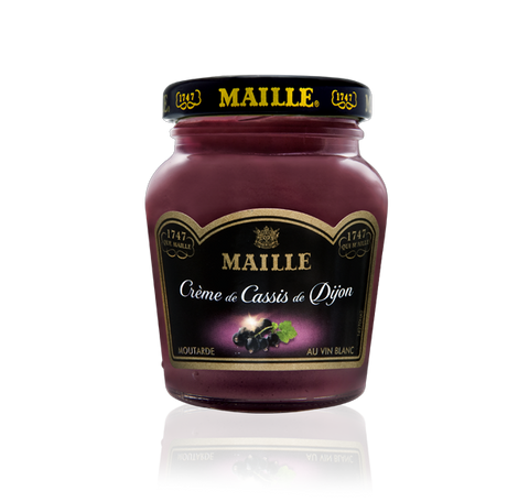 Maille Dijon Blackcurrant Liqueur and White Wine Mustard, 108g