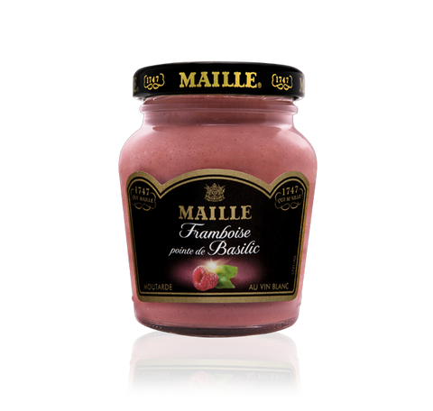 Maille Raspberry, Basil and White Wine Mustard, 108g