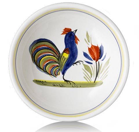 Maille Le Coq hand painted ceramic dish