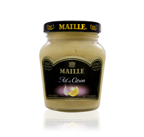 Maille Lemon, Garlic and White Wine Mustard, 108g