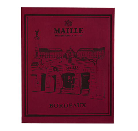 Maille Bordeaux Boutique Tea Towel
