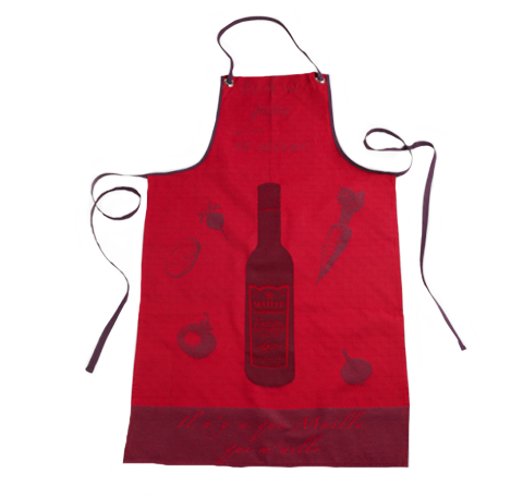 Red Maille Vinegar Kitchen Chef Apron