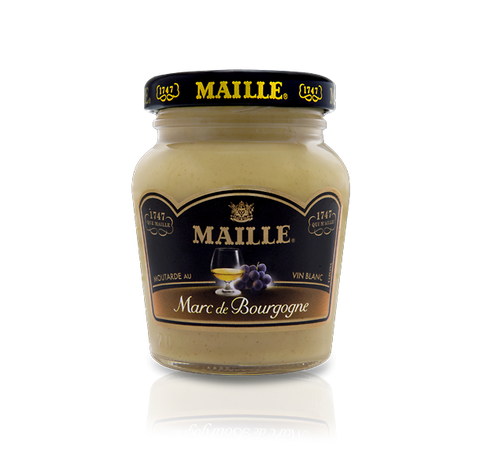 Maille Marc de Bourgogne Aged Brandy and White Wine Mustard, 108g