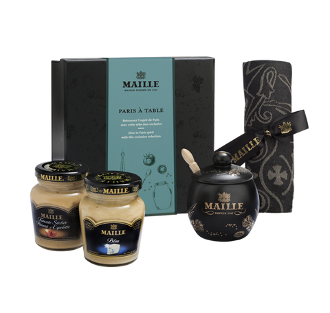 Maille Exclusive Paris Mustard Table Gift Box Set