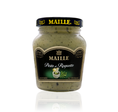 Maille Pesto and Rocket Lettuce Mustard with White Wine, 108g
