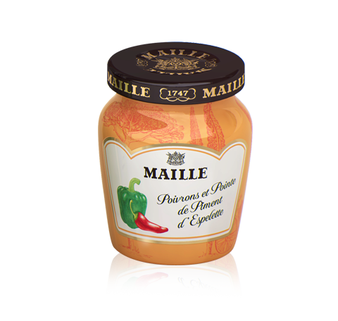 Mustard with Red Pepper, White Wine and a touch of Espelette Chilli, 108g