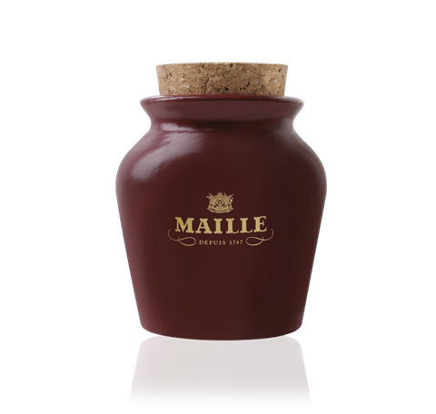 Maille Black Truffle Mustard with Chablis White Wine in Red Puce Jar 125g