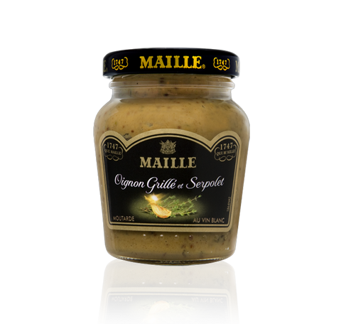 Maille Roasted Onions, Wild Thyme and White Wine Mustard, 108g