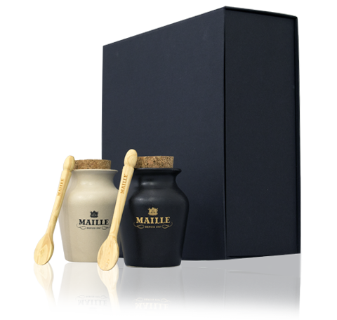 Maille Black & White Truffle Gift Set