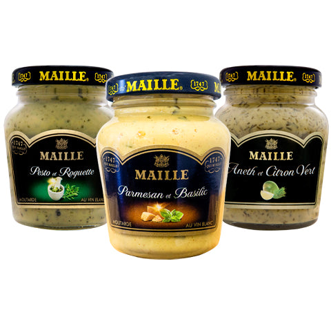 Maille Vegetable Bundle, 3 x mustard 108g