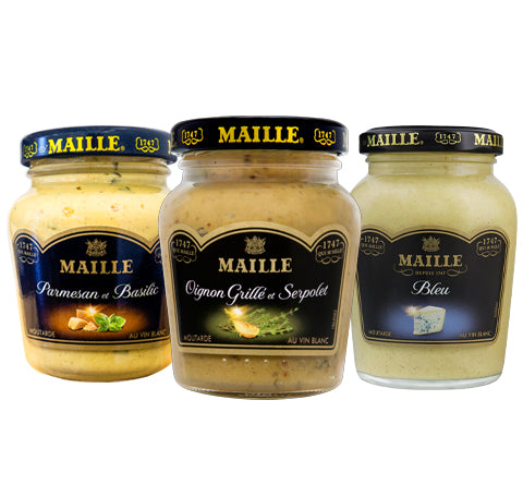 Maille Barbecue Bundle, 3 x mustard 108g