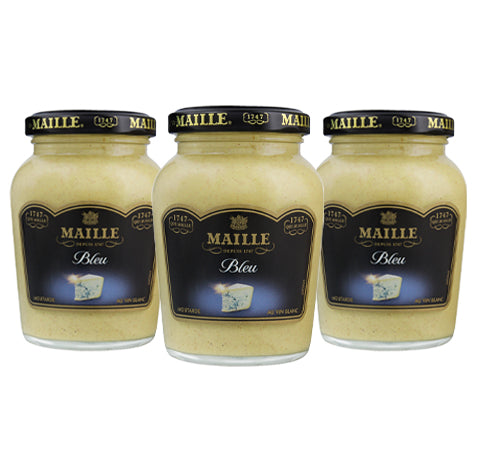 Bundle of 3 x Blue Cheese and White Wine Mustard, 108g